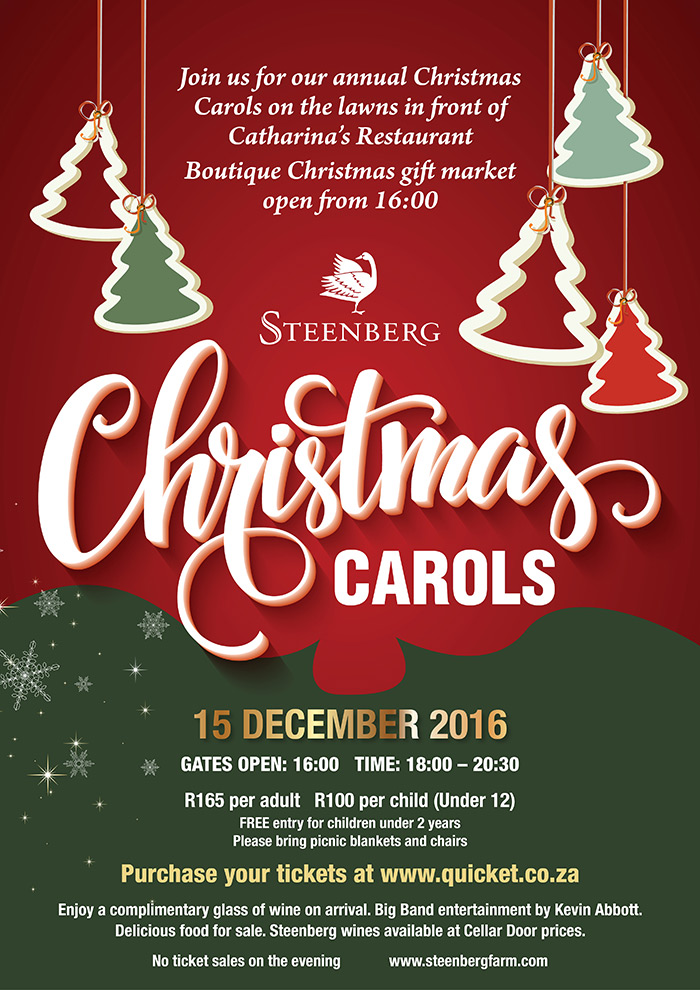 Christmas Carols at Steenberg – Steenberg Farm