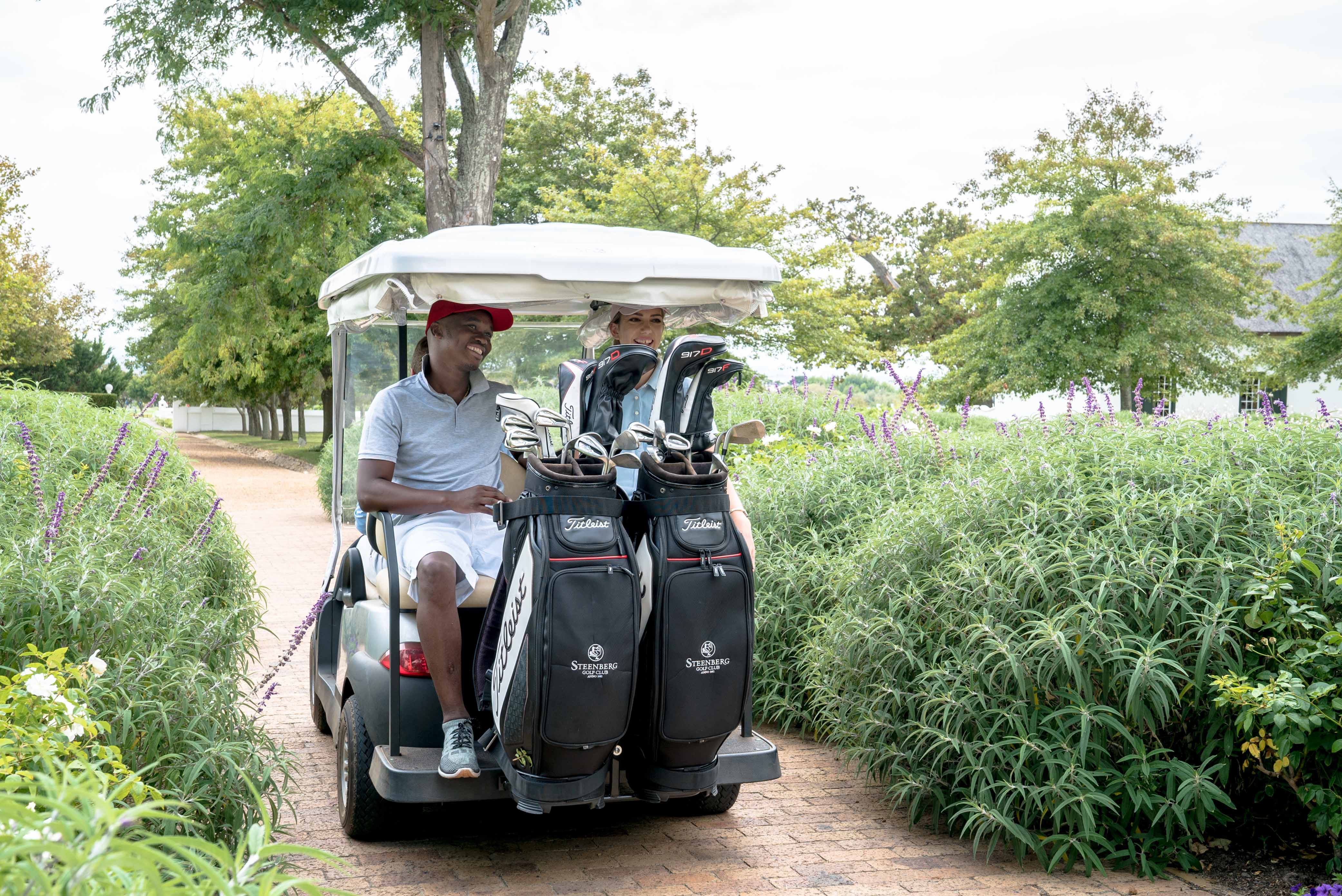 Golf Cart at Steenberg Hotel