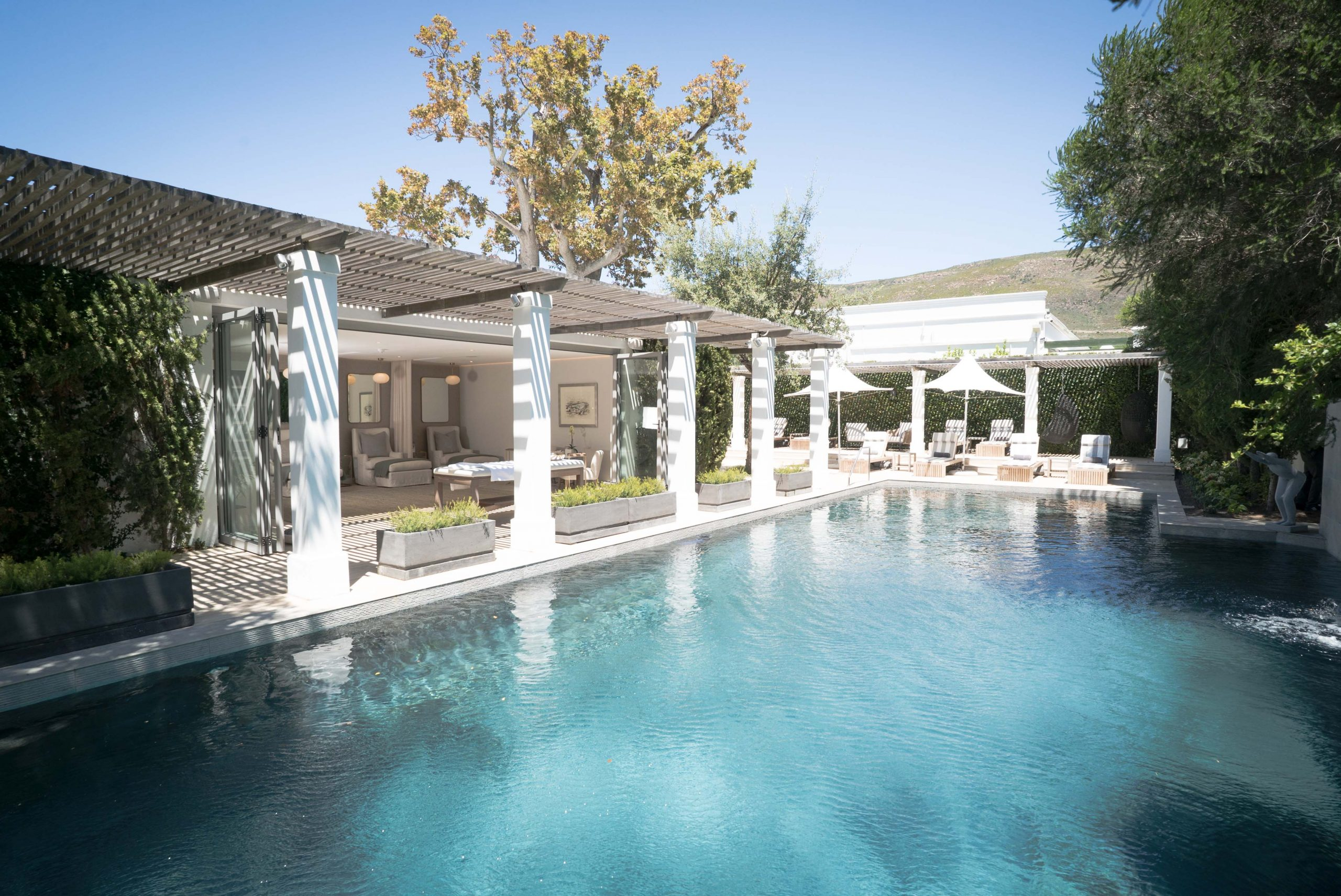 The Relaxation Area and Pool at Steenberg Hotel