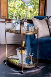 Drinks Trolley - Manor Suite Lounge at Steenberg Hotel & Spa