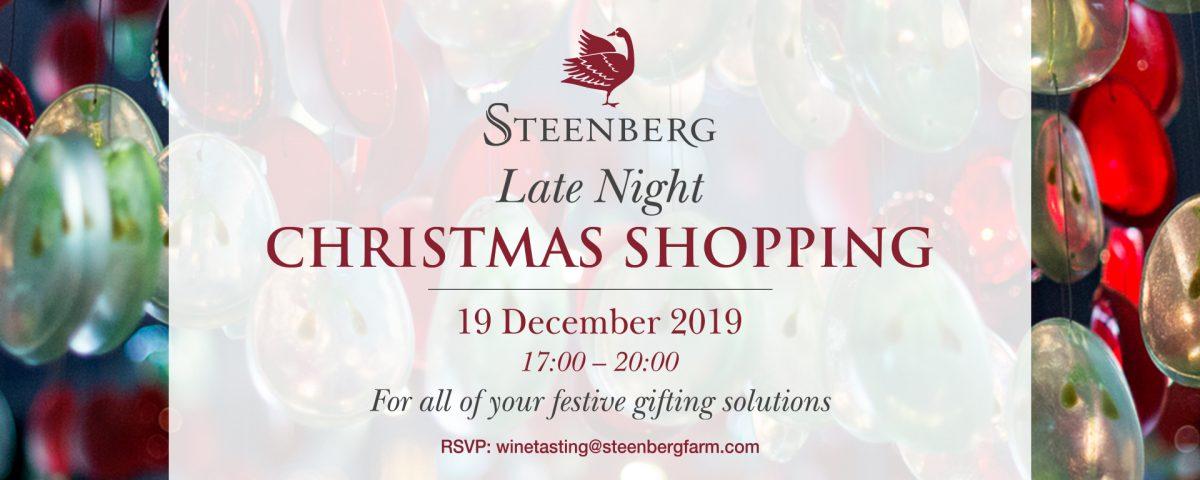 LATE NIGHT CHRISTMAS SHOPPING