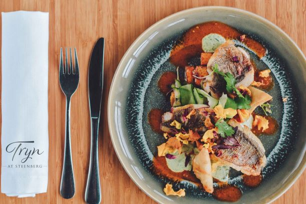 GRILLED SUSTAINABLE FISH WITH HARISSA, ROAST BUTTERNUT & CORIANDER YOGHURT RECIPE